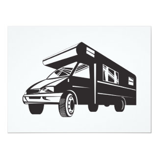 Camper Van Motor Home Retro Personalized Announcements