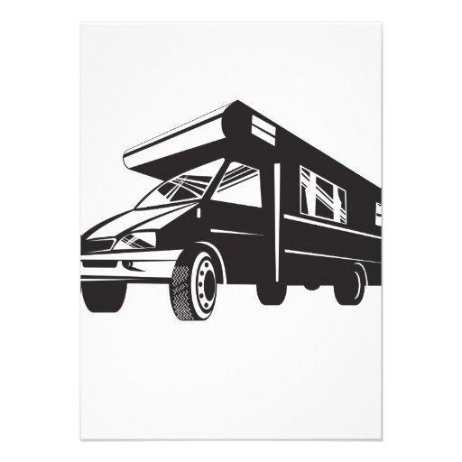 Camper Van Motor Home Retro Custom Invites