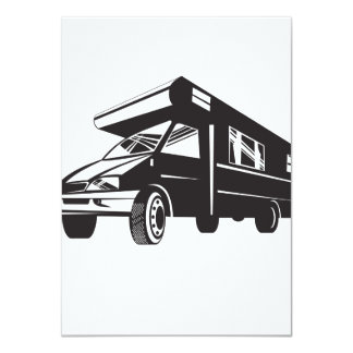 Camper Van Motor Home Retro Custom Invites