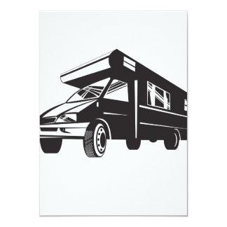 Camper Van Motor Home Retro 11 Cm X 16 Cm Invitation Card
