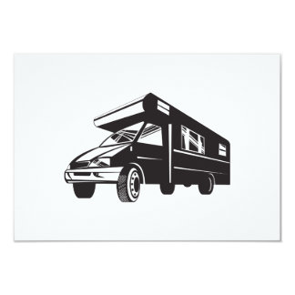 Camper Van Motor Home Retro Personalised Invite