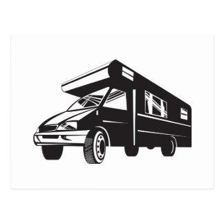 Camper Van Motor Home Retro Post Card