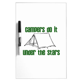 Campers Do It Under The Stars Dry-Erase Whiteboard