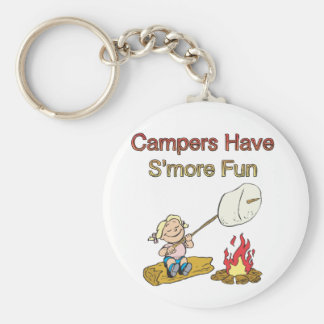 Campers have S'more fun Basic Round Button Key Ring