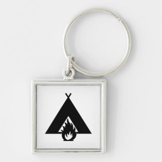 Campfire and Tent Key Chains