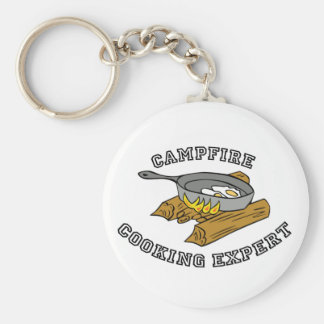 Campfire Cooking Expert Basic Round Button Key Ring