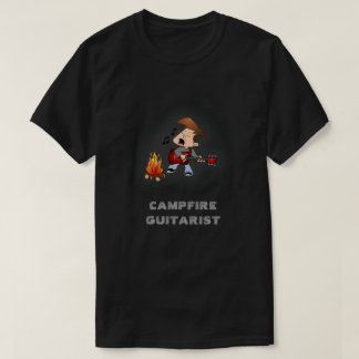 Campfire Guitarist Music T-Shirt