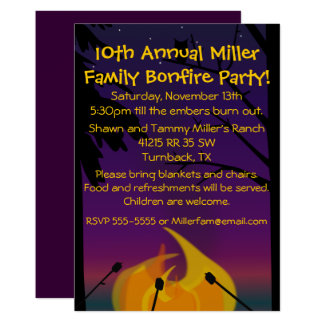 Campfire Party Invitation