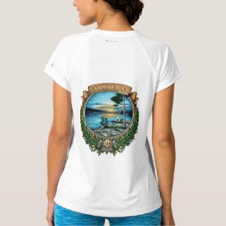 Campfire Rock Virtual Race T-Shirt, White T-Shirt