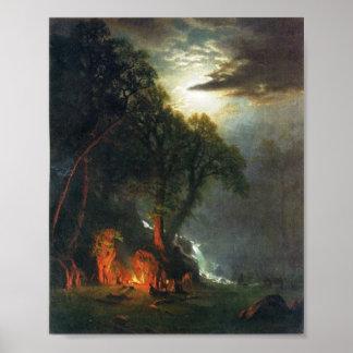 Campfire Site Yosemite Poster