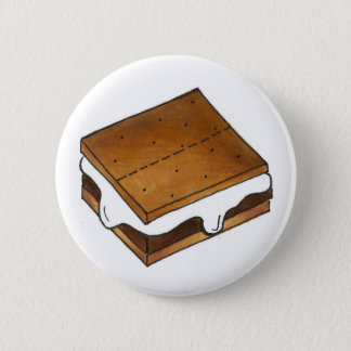 Campfire S'mores Marshmallow Camp Smores Foodie 6 Cm Round Badge