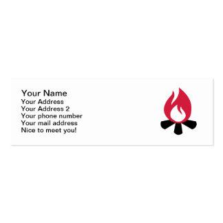 Campfire symbol business card template
