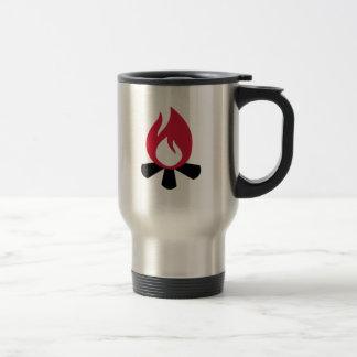 Campfire symbol coffee mug