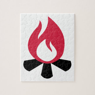Campfire symbol jigsaw puzzles