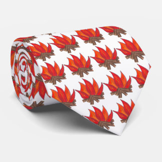 Campfire Toasted Marshmallow Camp Fire Camping Tie
