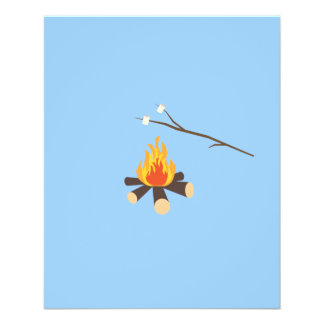 Campfire with marshmallows 11.5 cm x 14 cm flyer
