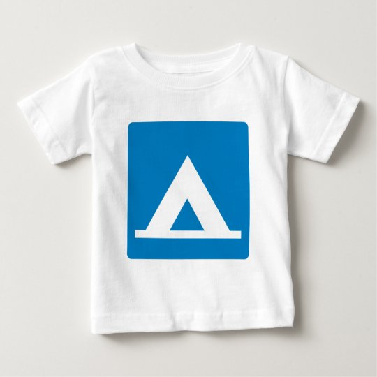 Campground Highway Sign Baby T-Shirt