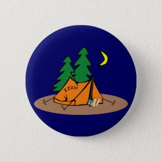 Camping 6 Cm Round Badge
