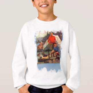 Camping and fishing sweatshirt