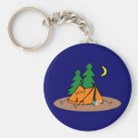 Camping Basic Round Button Key Ring