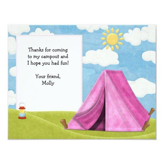 Camping Birthday Thank You Card