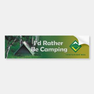 Camping Bumper Sticker