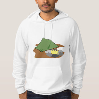 Camping By A Campfire Mens Hoodie