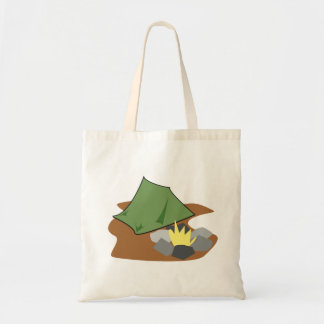 Camping By A Campfire Tote Bag