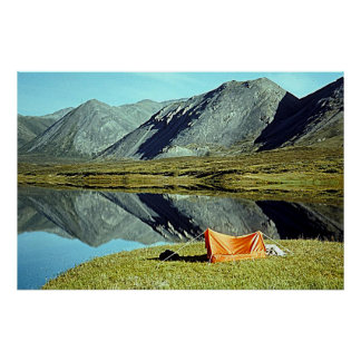 Camping by Unknown Lake Poster