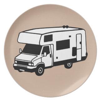 camping car party plates