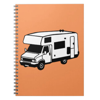 camping car spiral note book