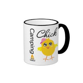 Camping Chick Ringer Mug