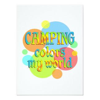 Camping Colors My World Custom Invitation