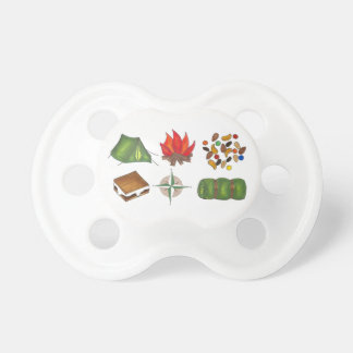 Camping Compass Tent Camp Fire S'mores Pacifier