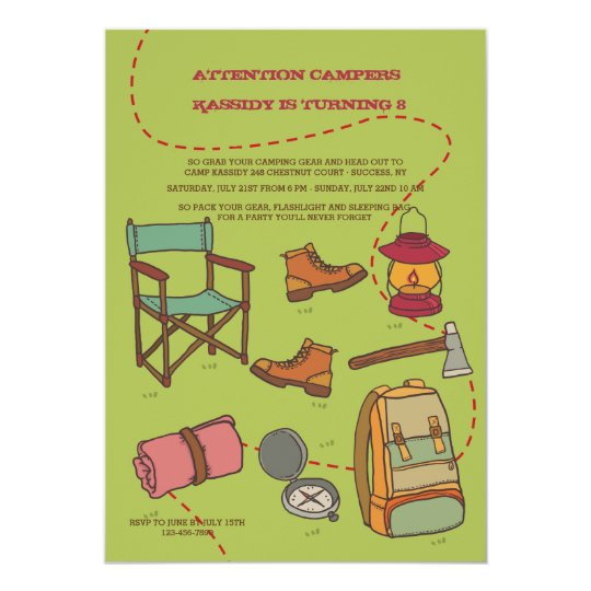 Camping Elements Invitation