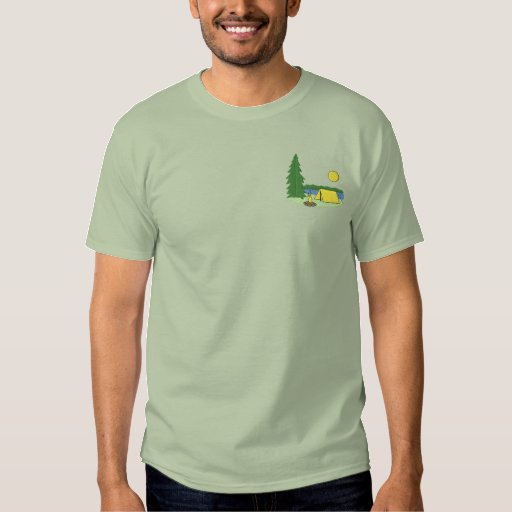 Camping Embroidered T-Shirt