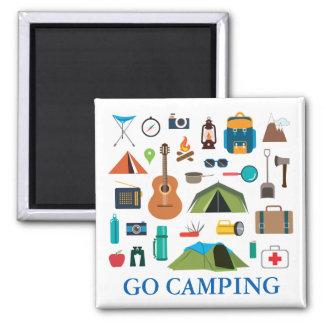 Camping Equipment Square Magnet