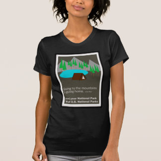 Camping Find your park old school ad design T Shirt