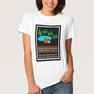 Camping Find your park old school ad design T Shirts