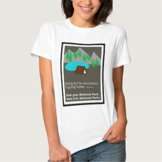 Camping Find your park old school ad design Tees