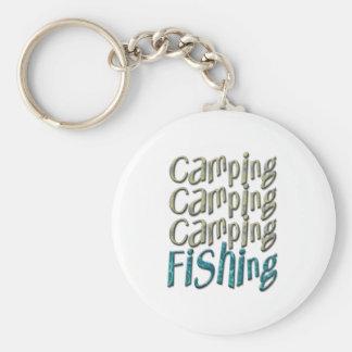 Camping Fishing Basic Round Button Key Ring