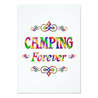 Camping Forever Personalized Invitations