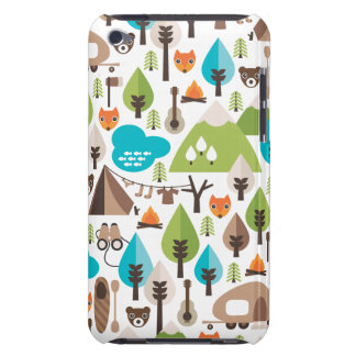 Camping fox boys ipod case iPod touch cover