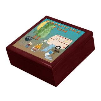 Camping Fun Gift Box/Trinket Box Large Square Gift Box