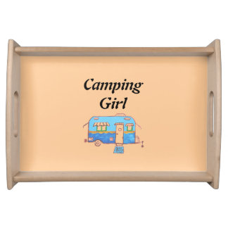 Camping Girl Serving Tray