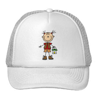 Camping Girl With Lantern Tshirts and Gifts Hats