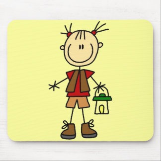Camping Girl With Lantern Tshirts and Gifts Mouse Pad