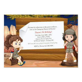 Camping Girls Invitation