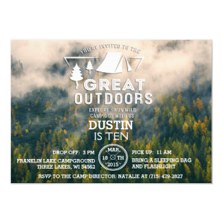 Camping Great Outdoors Invitation