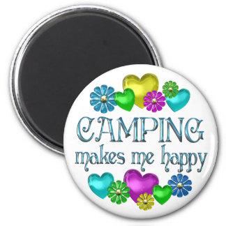 Camping Happiness Magnet